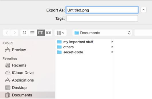Opening finder from export in Preview