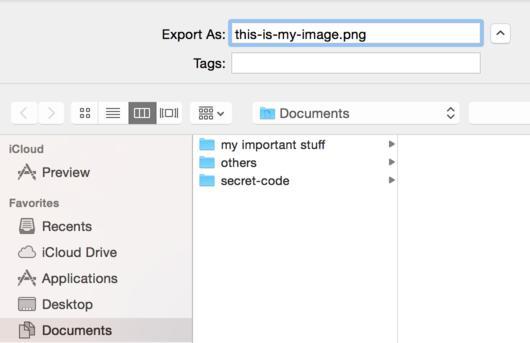 Renaming image in finder