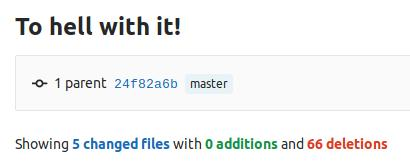 Removing all files from git